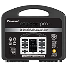 "Panasonic K-KJ17KHC82A eneloop pro High Capacity Power Pack, 8AA, 2AAA, with""Advanced"" Individual Battery Charger and Plastic Storage Case"