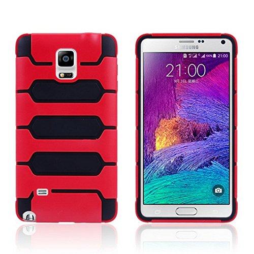 Mxnet Tank Serie PC + TPU Stoßfänger Kombi Case für Samsung Galaxy Note 4 N910 rutschsicher Telefon-Kasten ( Color : Red )