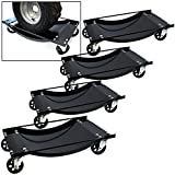 TMS T-CARDOLY-MH0052 Heavy Duty Tire Skates Swivel Moving Wheel Dolly Ball Bearing Skate Jack Shop Lift, 12-Inch, Set of 4