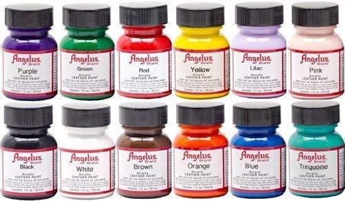 Angelus 4oz Acrylic Paint 12pk by Angelus