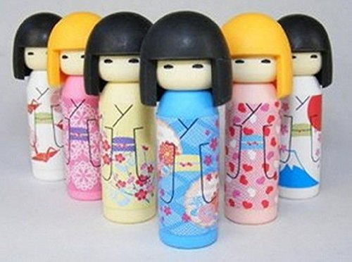 Japanese Iwako Erasers Set - Japanese Kokeshi Doll 6 Pcs (Kokeshi Bento Container compare prices)