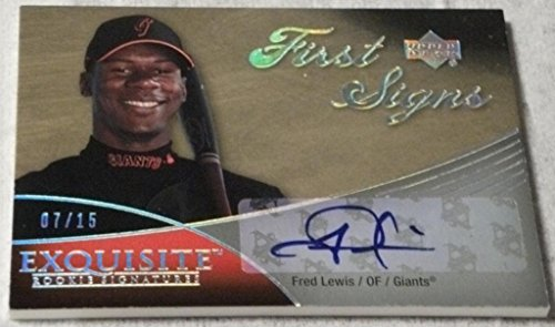 (2007 Exquisite Collection Rookie Signatures First Signs Autographs Silver Spectrum #FL Fred Lewis 7/15)