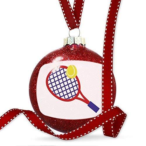 Raqueta de Tenis con diseño de Pelota de Tenis Rojo, Adornos de ...