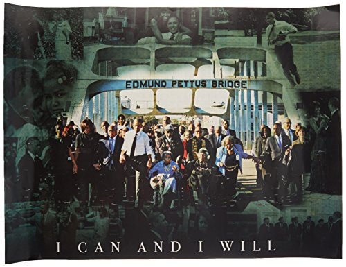 (777 Tri-Seven Entertainment Selma March Poster I Can and I Will 50th Anniversary Print African American Black History,)