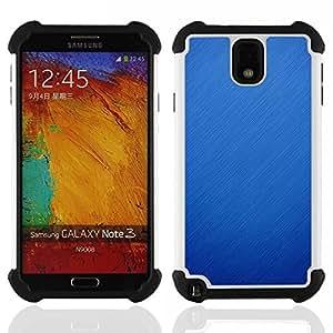 """SAMSUNG Galaxy Note 3 III / N9000 / N9005 - 3 en 1 impreso colorido de Altas Prestaciones PC Funda chaqueta Negro cubierta gel silicona suave (Lluvia Nieve Azul Naturaleza Otoño Invierno Limpio"""")"""