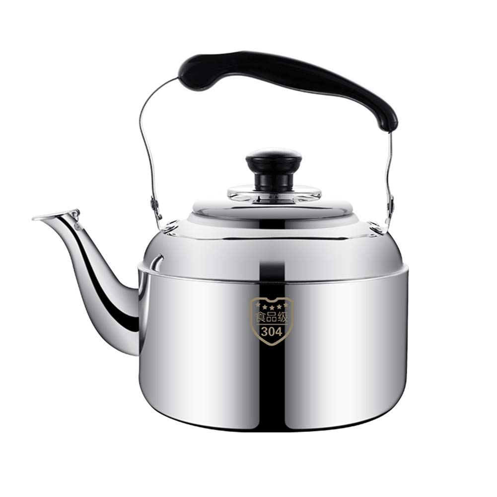 Stainless Steel Kettle, for Home Kitchen Restaurant Hotel Cafe Use and Outdoor Camping Hiking Picnic, 3L,4L,5L,6L,7L,8L,10L by HLLXX
