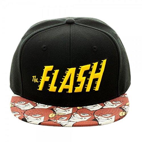 e6de4d59035c53 Amazon.com: Bioworld Official Snapback- DC Comics Flash Halftone Snapback  Hat One Size: Clothing