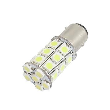 1157 P21 / 5W blanco 5050 SMD 27 LED Bombillas de copia de seguridad para el coche automático: Amazon.es: Coche y moto