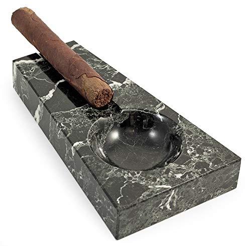 - KensingtonRow Home Collection Ashtrays - Coronas Black Marble Ashtray - Ash Tray - Mens Gifts