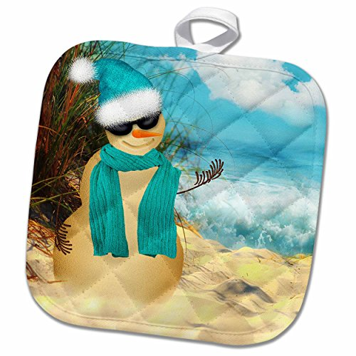 3drose-doreen-erhardt-christmas-collection-sandy-beach-sandman-with-ocean-view-fun-spoof-on-a-snowma