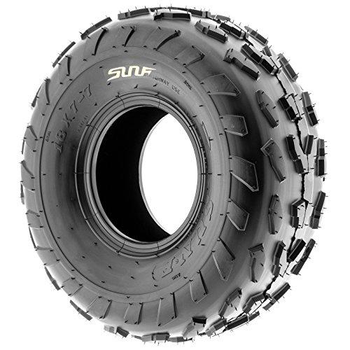 SunF 18x7-7 18x7x7 ATV UTV A/T Quad Race Replacement 4 PR Tubeless Tires A007, [Set of 2] by SunF (Image #4)