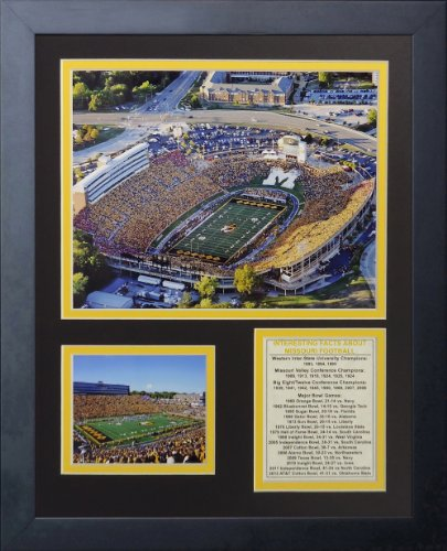 Legends Never Die Missouri Tigers Faurot Field Framed Photo Collage, 11 by 14-Inch