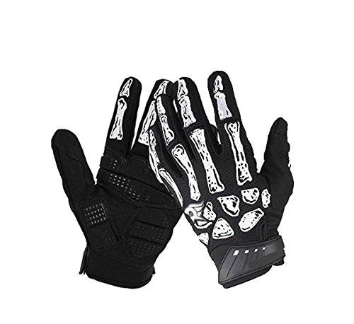 Men Winter Warm Full Finger Skull Bone Gloves Cycling Bike Motorcycle Gloves US
