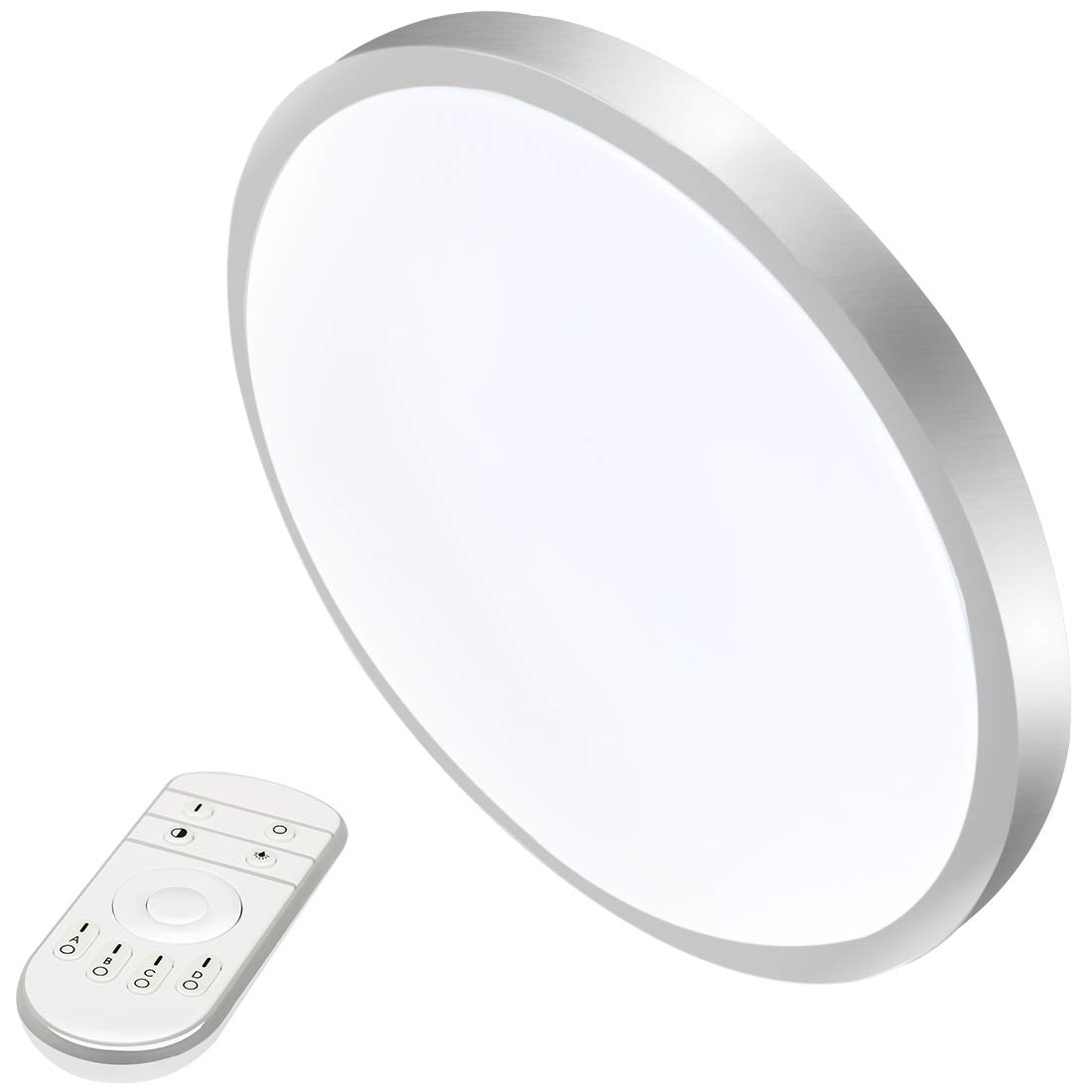 12W 12-Inch Dimmable LED Round Ceiling Lights with Remote Control 2800K - 6500K LED Flush Mount Ceiling Light for Kitchen Dining Living Room 3030TY