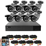 Best Vision 16CH 4-in-1 HD DVR Security Camera System (1TB HDD), 8pcs 1080P High Definition Outdoor...