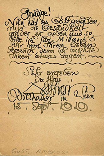 Gustinus Ambrosi autographed vintage postcard ()