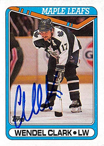 Wendel Clark autographed Hockey Card (Toronto Maple Leafs) 1990 Topps #79 - Hockey Slabbed Autographed Cards
