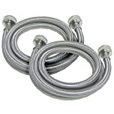 Frigidaire 2 x 6 ft. Stainless Steel Braided Washer Hoses, 2SSFILHOSE