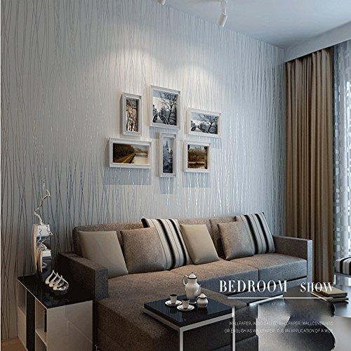Kitchen Living Room Pass Through See Description: QIHANG Non-woven Classic Flocking Plain Stripe Modern