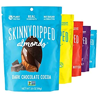 SKINNYDIPPED Fan Favorites Almond Variety Pack, 3.5 oz Bags, 5 Count