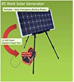 Emergency Survival Solar Generator - Easy Portable 85Watt DC Solar Backup Power