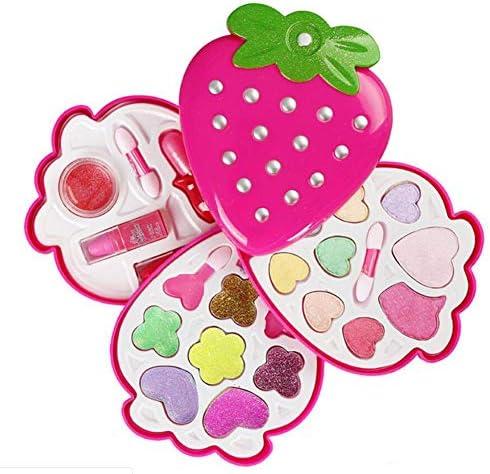 子供のおもちゃメイクイチゴは安全な非毒性のメイクアップ化粧品は玩具セットのために女の子を再生するふり形