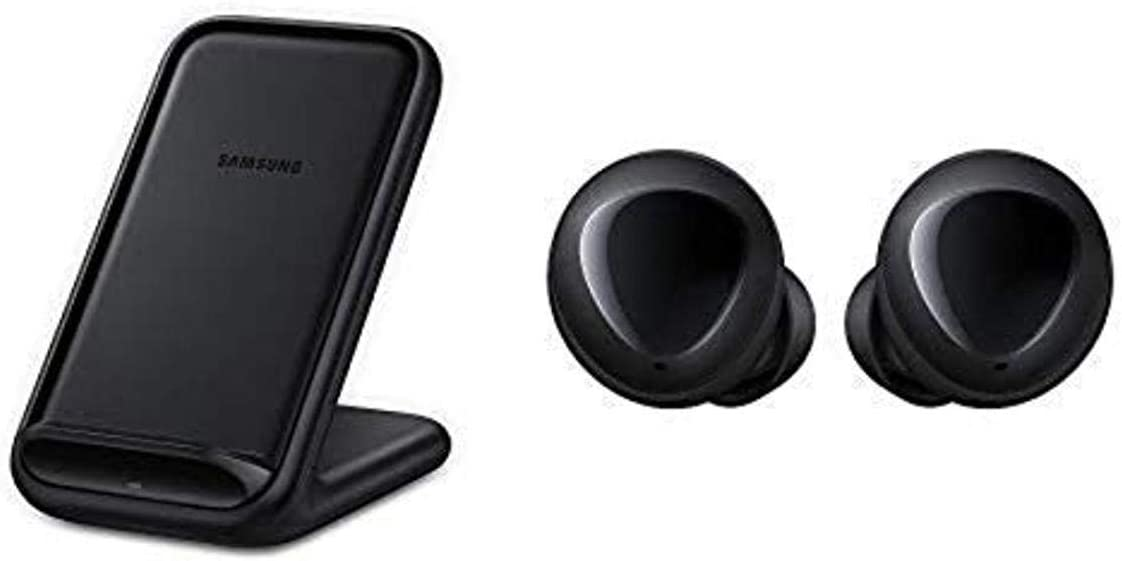 Samsung 15W Fast Charge 2.0 Wireless Charger Stand - Black (US Version with Warranty) with Galaxy Buds, Black - US Version with Warranty