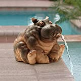 Design Toscano Hanna the Hippo African Decor Piped Pond Spitter Statue Water Feature, 10 Inch, Polyresin, Full Color Review
