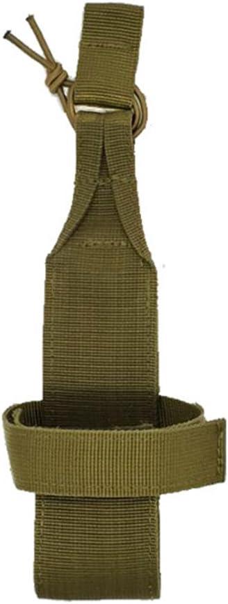 Minimaliste Simple pour Marcher Kaki, Noir, Vert arm/ée Pochette pour Bouteille deau randonn/ée Zebroau Porte-Bouteille Tactique Faire du v/élo
