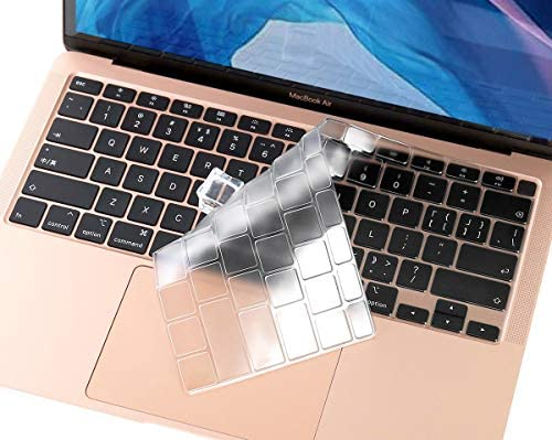 Clear Keyboard Cover Skin for New 2020 MacBook Air 13 Inch ReleaseTouch ID Model A2179 MacBook Air 13 A2179 Keyboard Protector Accessories TPU