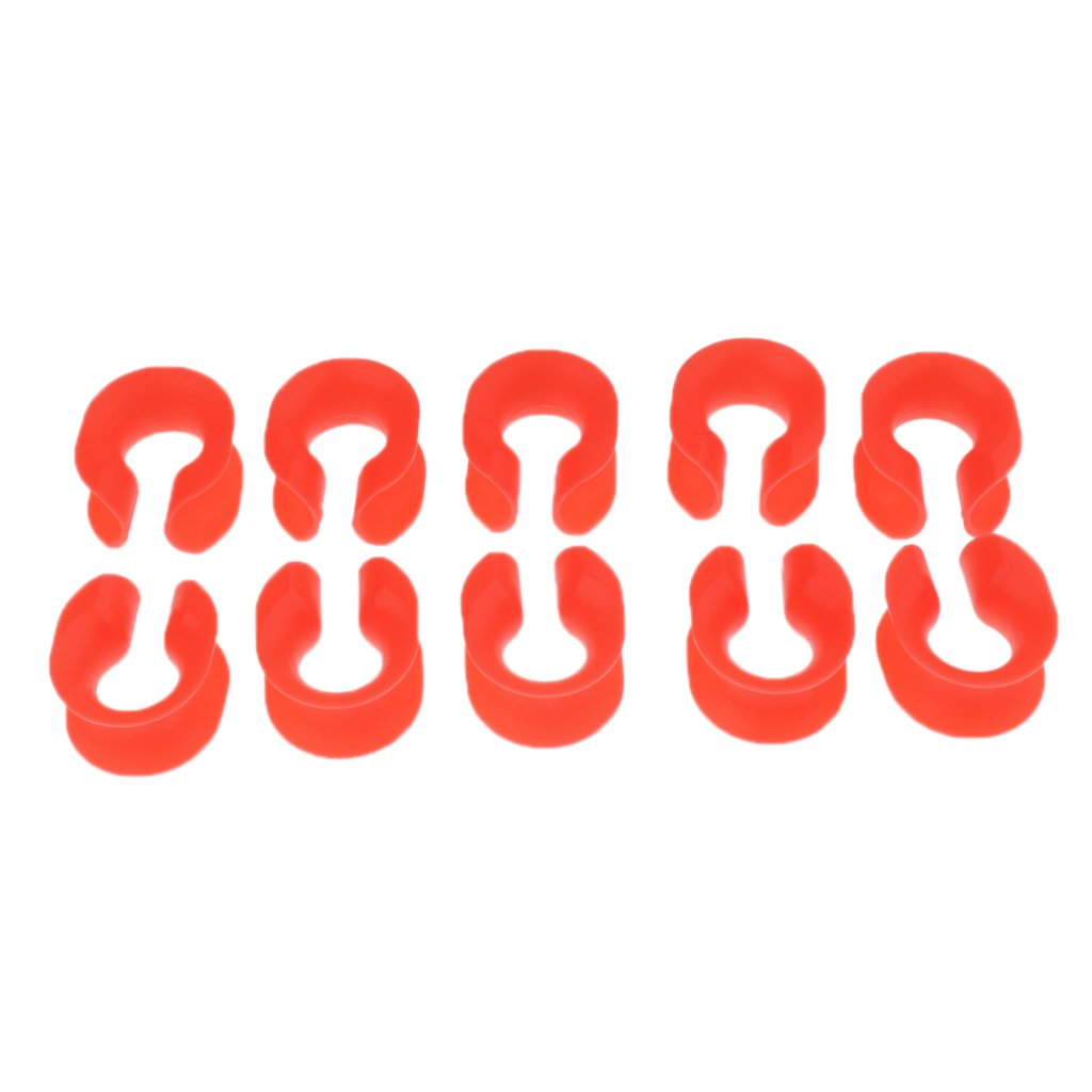 CUTICATE 10pcs Kunststoff Abseilen Seil Schutzh/ülle Loop Freien Orange