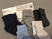 Decent socks, can fold or wear long. Runs a little small for bigger baby.