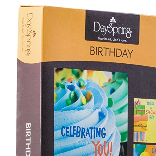 DaySpring Birthday Boxed Cards Bright 12 Count