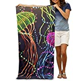 Colivy Jellyfish Dance In Dark Quick-drying Pool Beach Towel Travel Bath Towel For Adults
