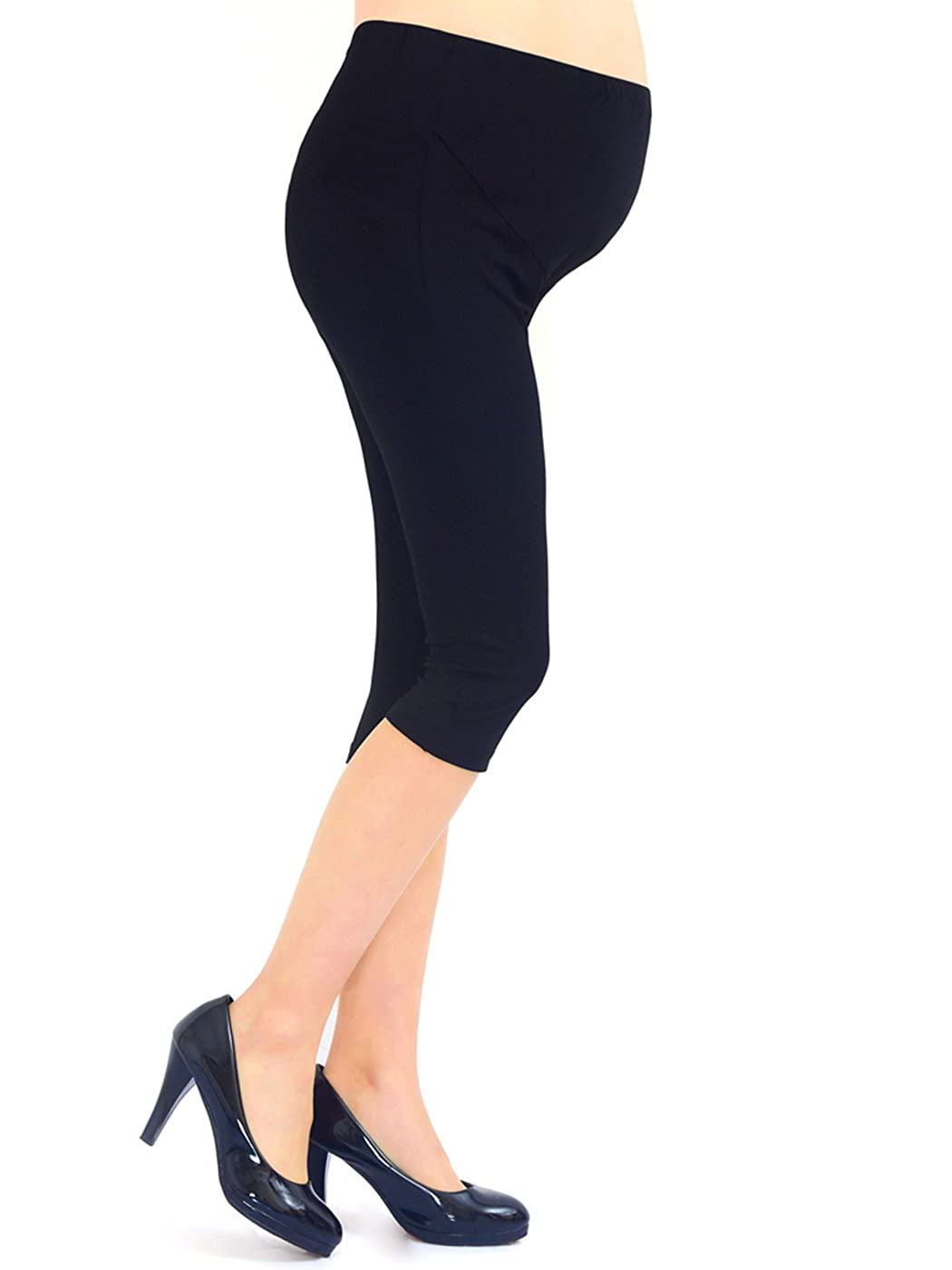Liang Rou Belly Support Ultra Thin Stretch Maternity Cropped Leggings Black M Baifu International Limited ML8070