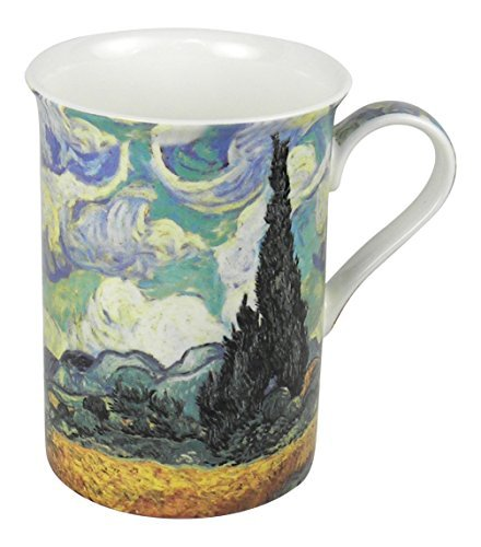 Heath McCabe Vincent Van Gogh Wheat Field with Cypresses Fine Bone China Mug