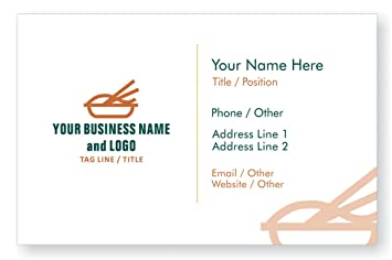 Amazon Design Your Own Personalized Business Card Restaurant