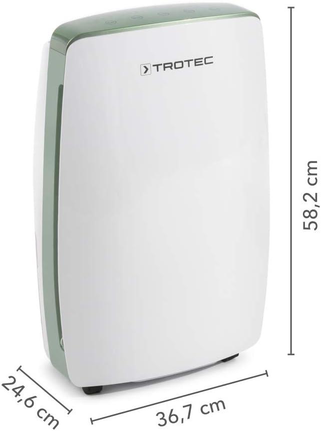 TROTEC Deshumidificador eléctrico TTK 68 E / 20L / Pantalla LED ...