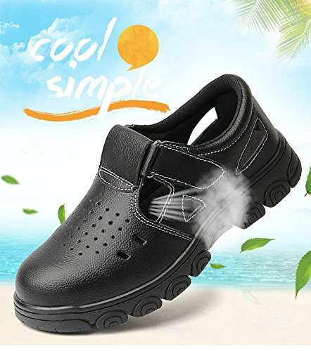 Men Anti-elactric Air Mesh Steel Toe Cap Work Safety Shoes Breathable Working Boots Puncture Proof Protective Footwear by PlainTown (Image #5)