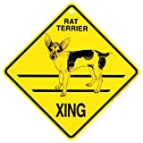KC Creations Rat Terrier Xing Caution Crossing Sign Dog Gift