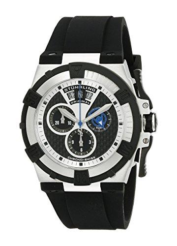 Stuhrling Original Men's 220.33161 Aviator Falcon Swiss Quartz Chronograph Date - Complication Watch Gents