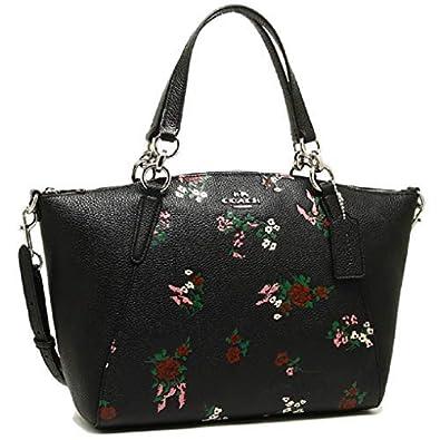 5e53c20f8868 COACH SMALL KELSEY SATCHEL WITH CROSS STITCH FLORAL PRINT, F25875, BLACK:  Handbags: Amazon.com