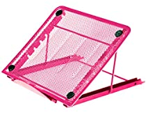 Halter Mesh Ventilated Adjustable Laptop Stand for Laptop / Notebook / iPad / Tablet and more - Pink