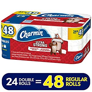 Charmin Ultra Strong Toilet Paper, 24 Double Rolls (Equal to 48 Regular Rolls) (B07DWBFW6Z)   Amazon price tracker / tracking, Amazon price history charts, Amazon price watches, Amazon price drop alerts