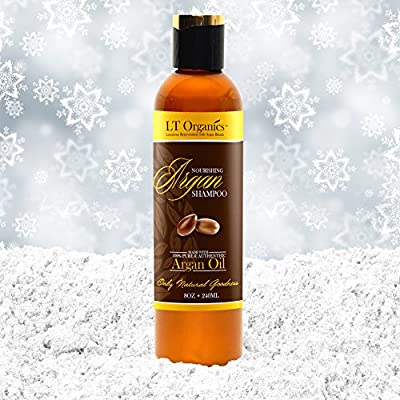 BEST Paraben Free & Sulfate Free Argan Oil Shampoo - Promotes Hair Growth - Backed by a 100% Satisfaction Guarantee! Natural, Professional Quality Stops Frizz, Leaves Hair Soft & Silky 8oz