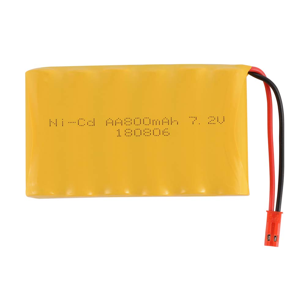 Tutmonda RC 4.8V 800mAh AA Ni-Cd Rechargeable Battery with JST Plug for RC Car Truck Boat RC Hobby Lighting Gadgets Electric Tools
