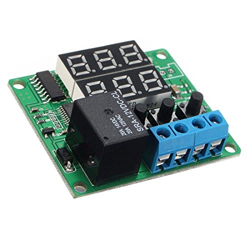 TOOGOO(R) DC 12V Dual LED Multifunction Cycle Timer Control Relay Module Delay Time Switch (Time Cycle Relay Repeat Delay)