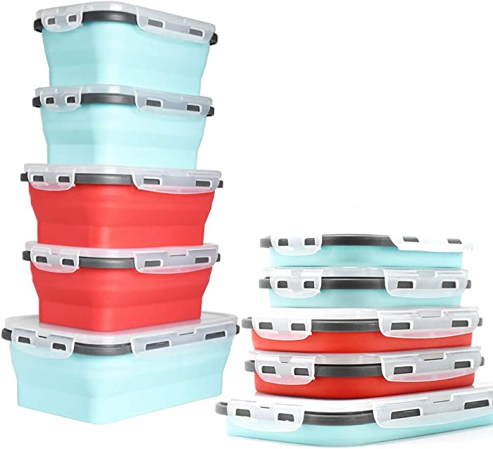 Top 9 Silicone Collapsible Food Container Red