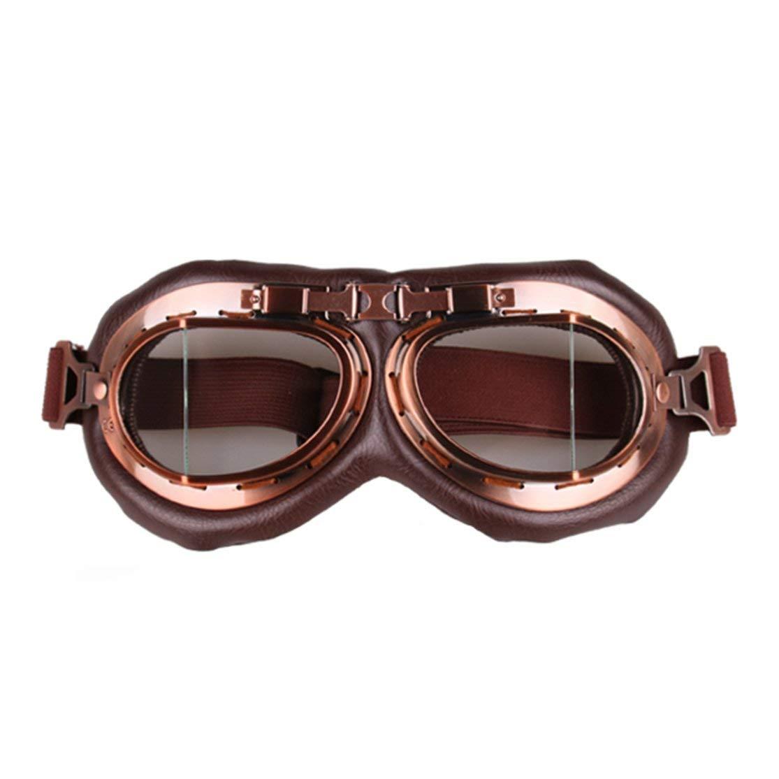 Color:Transparent Vintage Motorrad-Schutzbrille Motocross-Flieger-Pilotkreuzer Gl/äser Motorradsport Fahrrad-Mode Aufma/ß Brillen Brillen Kaemma