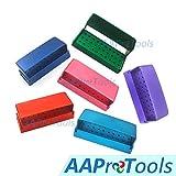 AAProTools 6Pcs New FG RA Drills Burs Holder Block Case Organizer Alumimum Instrument